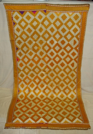 Phulkari From West(Pakistan)Punjab.India.known As Shisha(Mirror)Design Bagh ,very Rare influence of Different Design Shisha(DSC08392 New).