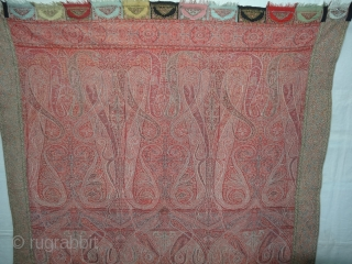 Sikh Period Jamawar Long Shawl From Kashmir, India.C.1830-1860.Its Size is 133cmx302cm. Its condition is good(DSC04361 New).
