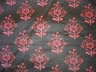 Roller Print Yardage From Kutch Gujarat.It is made in Manchester,England For Indian Market.Its size is 70cmX285cm(DSC02613 New).