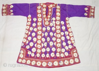 Ceremonial Chamba Costume,From Himachal Pradesh India.India.C.1900.Silk ground with flow silk embroidery.Its size is L-80,W-62cm, Shoulder 19cmX36cm(DSC07635).