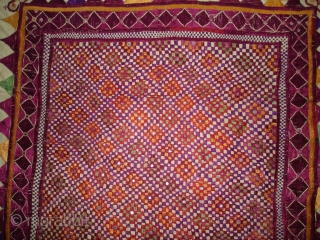 Kathipa Dharaniya Wall Hanging From Bhavnagar District of Gujarat India.This were Traditionally used mainly by Royal Darbar family of Bhavnagar Gujarat India.C.1900.Its size is 135cmx205cm(DSC00448 New).