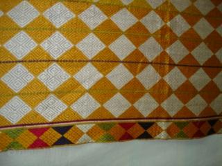 Phulkari(Bagh)From West(Pakistan)Punjab. India.Fine Work with Panchrangi Border Design,Floss silk on hand spun cotton ground cloth(DSC03531 New).