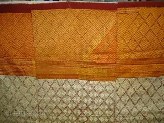 Phulkari From West(Pakistan) Punjab.India.known As Shisha Bagh very Rare influence of Ghughat Design with Satrangi Lahariya Design Very Rare Kind of Bagh(DSC01500 New).