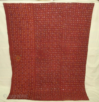 Woman's Shawl Odhani(Cotton)Probably from Bhanushali Group From Kutch Gujarat India.Its size is 150cmX200cm(DSC02728 new).