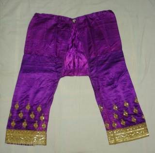 Ceremonial Woman's Trouser(Ejar)From Gujarat India.C.1900.Zari Embroidery on Gajji-Silk,This were traditionally used mainly by Vohra-Muslim family of Gujarat India(DSC05217 New).
