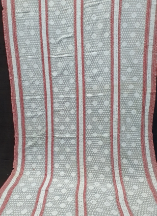 Paanch Paari (FiveBorder) Finest Muslin Cotton Saree,With Double Pallu,From Dhaka District of Bangladesh. Eastern India.India.Jamdani was originally known as Dhakai named after the city of Dhaka, Jamdani is Persian deriving name from  ...