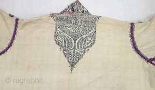 Choga (Coat) Kani Jamawar and Embroidery with keri butis From Kashmir, India. c.1900.