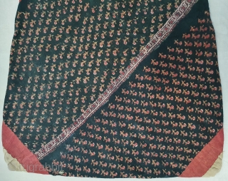 Early Block Print Dowry Bag (Natural Dyes on cotton) From Balotra, Rajasthan. India.C.1900.Its size is 52cmX70cm (20200304_130255).