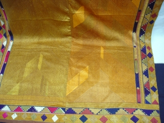 Phulkari From West(Pakistan)Punjab.India.known As Vari-Da-Bagh,Very Rare influence of Multi-colour Side border(DSC01065 New).