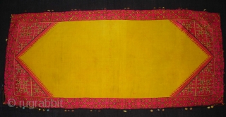 Pillow-Cover,Swat Valley(Pakistan).Cotton embroidered with floss silk.with woollen Braiding and Tassels.Its size is 38cm x 83cm(DSC02786 New).