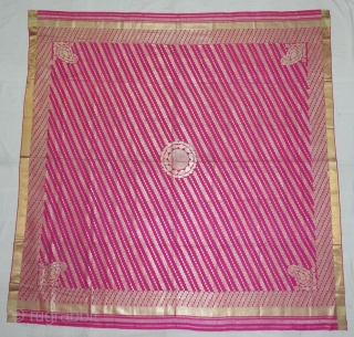 Chaukora Dupatta from the Deccan Region of South India.The Chaukora or the square veil has the charbagh pattern.Its size is 178cmX180cm.C.1900(DSC05063).