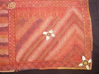 Banjara Darani(Quilted Mat)From Madhiya Pradesh India.Its size is 68cmX76cm(DSC01347 New).
