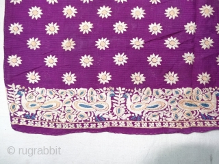 Parsi Jhabla or Jhablo (Blouse) From Surat Gujarat India. The 'four over, under one  satin weave is embroidered with Flowers  Jaal design.This kind of Jhabla's were embroidered by Chinese artisans  ...
