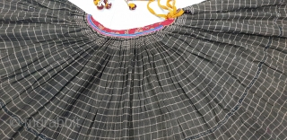 Ghaghra(Skirt)From Shekhawati District of Rajasthan. India.This is the Precious woolen Skirts of Young Girl of Bishnoi Group in the Shekhwati District.C.1900.Its size is L-86cm Around is 700cm(155228).