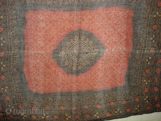 Odhani Tie and Dye (Natural Colurs) Cotton malmal,From Kutch,Gujarat India.Its  size is 90cmX175cm(DSC01842 New).