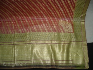 Dupatta Zari brocade(Real Silver and Gold) from Hyderabad India. Made to order for some Royal Family.Condition is very nice(DSC06465 New).