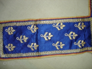Jain Book Cover From Kutch Gujarat India.Real Zari Gota Work on Silk.Made like Chopat Game,But its used for wrapping holy Book on it(DSC04696new).