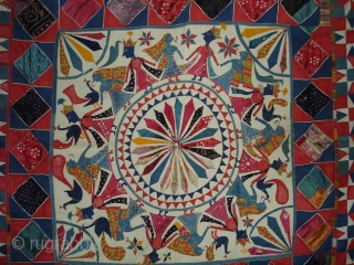 Marriage Canopy From Saurashtra Region of Gujarat India.Its size is 215x 215cm.Circa 1900(DSC02023).
