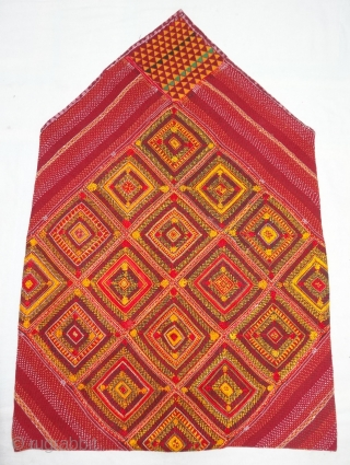 Banjara Dowry Bag (cotton),Very Famous Mathura Embroidery from Jabalpur Region of Madhya Pradesh, India.C.1900.Its size is 69cmX100cm(DSC04951).