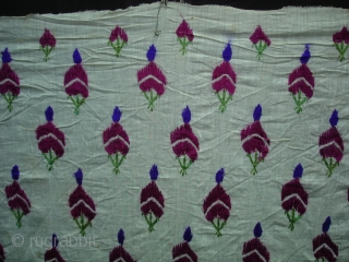 Embroidery Odhani(Cotton Malmal) From Tharpar Region of Pakistan.Its size is 128cmX208cm(DSC01974New).