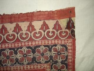 Prayer Arch Kalimkari From Kutch Gujarat.India.Khadi Cotton cloth. 19th Century.Its size is 80cm X130cm.(DSC01650 New)