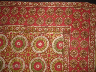 Early Block Print Chakla(Cotton Khadi)From Rajasthan,India.Its size is 84x92cm(DSC09537 New).