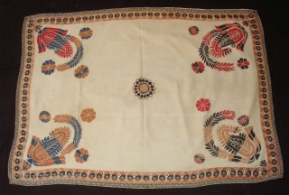 Kantha Quilted and embroidered cotton Kantha Probably From Jessore District of East Bengal(Bangladesh)region.India.Its size is 130cmX177cm(DSC02047 New).