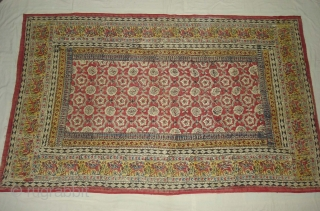 Saudagiri Block Print(Cotton Khadi)From Gujarat,India.Its size is 128cmx208cm(DSC00153 New).