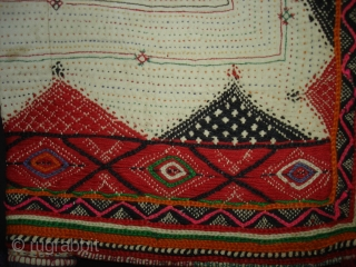 Embroidery Dowry Bag from Saurashtra Gujarat India.Embroidery with wool on Cotton,From Charan Gadhvi family.its size is 48cmX57cm(DSC02398 New).