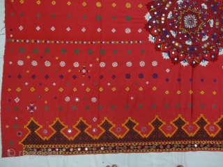 Woman's Shawl(Abochchini),Probably from Meghwar Group ,Tharparkar Pakistan. India.C.900.Its size is 147cmX207cm(DSC05948).