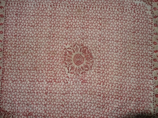 Block-Print Book Cover(Cotton),For the holy Book,Probably From Sidhpur Patan,Gujarat Region of western India. India.C.1900.Its size is 94cmX94cm(DSC06295).