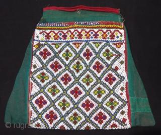 Dowry Bujki Bag of Beadwork from Saurashtra Region of Gujarat, India.C.1900.Its size is 25cmX27cm(DSC06324).