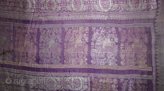 Baluchari Saree from Bengal, India. C.1900. A procession with Horse and Nawabs becomes a motif for the saree. It was this unique human figure that made Baluchari so special. Baluchari is a  ...