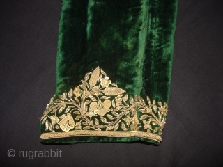 Choga Man's overcoat,Zardozi(Real Zari)Embroidered on the cotton velvet, From Gujarat. India. C.1900 (DSC03441 New).