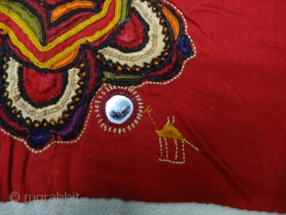 Embroidered Blouse-Front(Gaj)From Chetiari Sanghar,Morana, Sindh Provision of Pakistan. India.Cotton lined, Cotton and silk embroidery and mirrors(DSC0644).