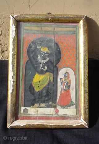 Miniature Painting Of Balarama From Kishangarh,Rajasthan,India.Circa 1900.Its size is 20cmX29cm.(DSC00107 New).