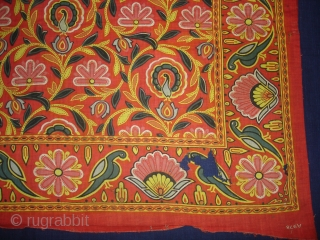 Manchester Print Pichwai Of Morakuti(Dancing Peacock)From Manchester England made for Indian Market. India.Roller Printed on Cotton.its size is 60cmX71cm(DSC00414 New).