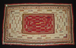 Embroidered and Printed Patch work Quilt From Dwaraka Region of Saurashtra Gujarat. India.very fine quilted and Patch work.Rare kind of Piece.Its size is 70cmX117cm(DSC02355 New).