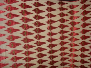 Phulkari From West Punjab.India.Known As KHANJAR THIRMA Bagh.Its size is 118cmX240cm.(DSC02705 New).