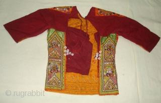 Ceremonial Womens Blouse(Kapada)FIne Rabari Embroidery From Kutch Gujarat, India.This were Traditionally used mainly Rabari Community of Kutch Gujarat India.C.1900(DSC05862 New).