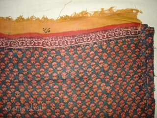 Cotton Khadi Indigo Blue Blocked Print Than(Length)from Rajasthan India.Circa 1900.Its complete than,Its size is 52cm X 1210cm.Very Rare to find complete than in good condition(DSC00302 New).
