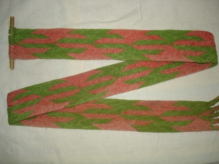 Tung The Camel Decoration Belt From Rajasthan, India.Made of cotton.Its size is 8cmx190cm(DSC05472New).