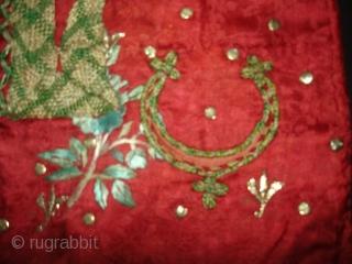 Child Waistcoat(sadri),Badla Work(Real Silver)On Gajji-Silk,Worn by Royal Bohra Muslims Family Of Sidhpur Gujarat. India.C.1900.L.40cm,W.51cm (DSC02908 New).