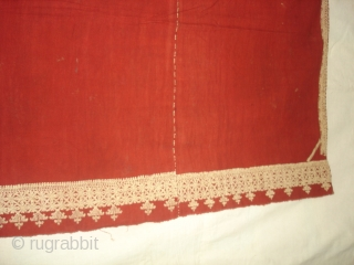 Odhana Double Sided Embroidery (Phulkari Chop Type) On Khadi Cotton. From Hanumangarh District Of Rajasthan Or Sirsa District Haryana.  India. Belongs to Bishnoi Jath Group.Natural Colours.C.1900. Its Size is 140cmX190cm(DSC02952 New).