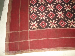 Telia Rumal,Cotton,warp and werft Ikat,From Andhra Pradesh India.Its size is 105cmX105cm(DSC00651 New).