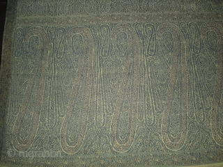 Highly Sikh Period Jamawar Long Shawl From Kashmir, India.Made for Sikh family of Punjab.C.1835.Its Size is 135cmx345cm.Its condition is very good(DSC03270 New).