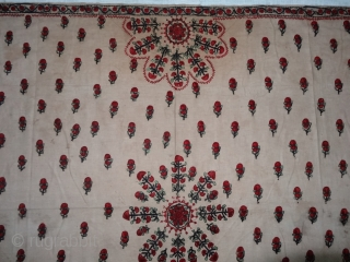 Abochhini Shawl for Women Probably from Sodha Group of Tharparkar Region of Sindh, undivided India. India .1900.Cotton with Silk Embroidery. Its size is 130cmX185cm(DSC07107).