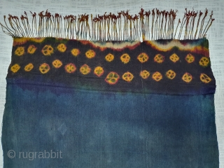 Zanskar Bokh Shawl From Tribal Area of Zanskar Ladakh India. It's Pure Indigo Blue colour has been used and made by yaks Wool. Worn by women.Its size is 87cm x 93cm (20190922_154726).