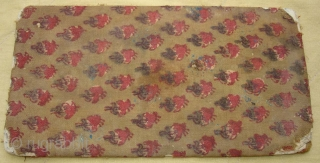 Sutra Book Cover(Cotton)Khadi Print.From Rajasthan India.Very Rare and Early Book cover.Its size is 11cm x 21cm.(DSC07439 New).