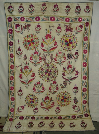 Dharaniya Wall Hanging From Saurashtra Gujarat. India.This were Traditionally used mainly by Kathi Darbar family of Saurashtra Gujarat India.C.1900.Its size is 125cm x208cm(DSC08372 New)